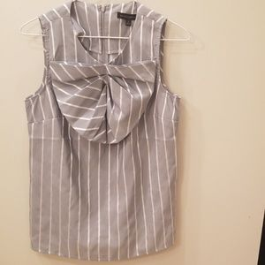 Banana Republic Gray and Silver Blouse- Size 4